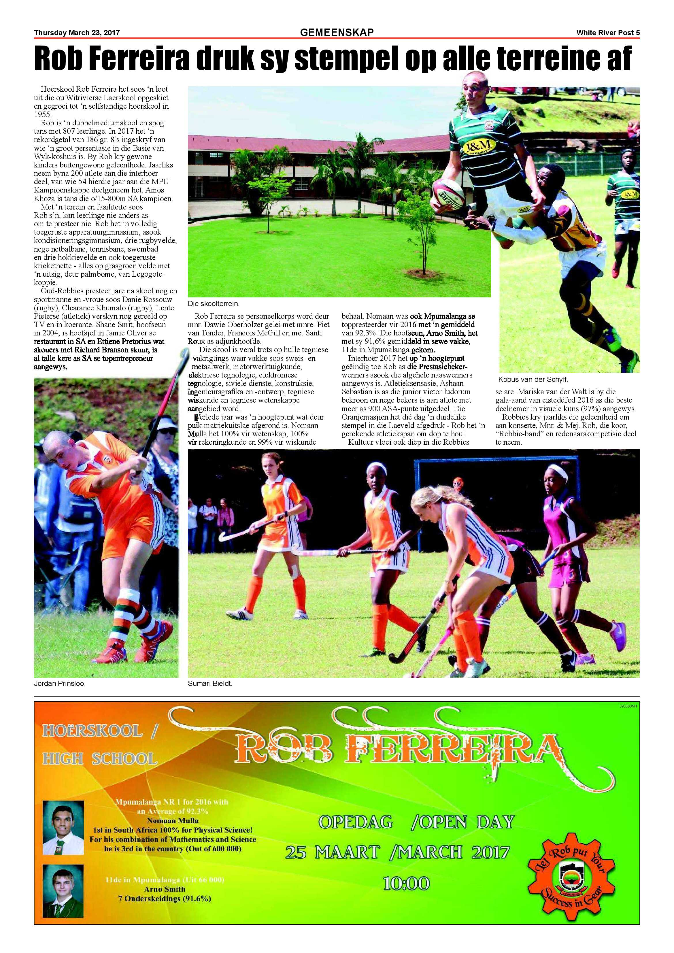 Posts for march page 7 - White River Post 23 March 2 Epapers Page