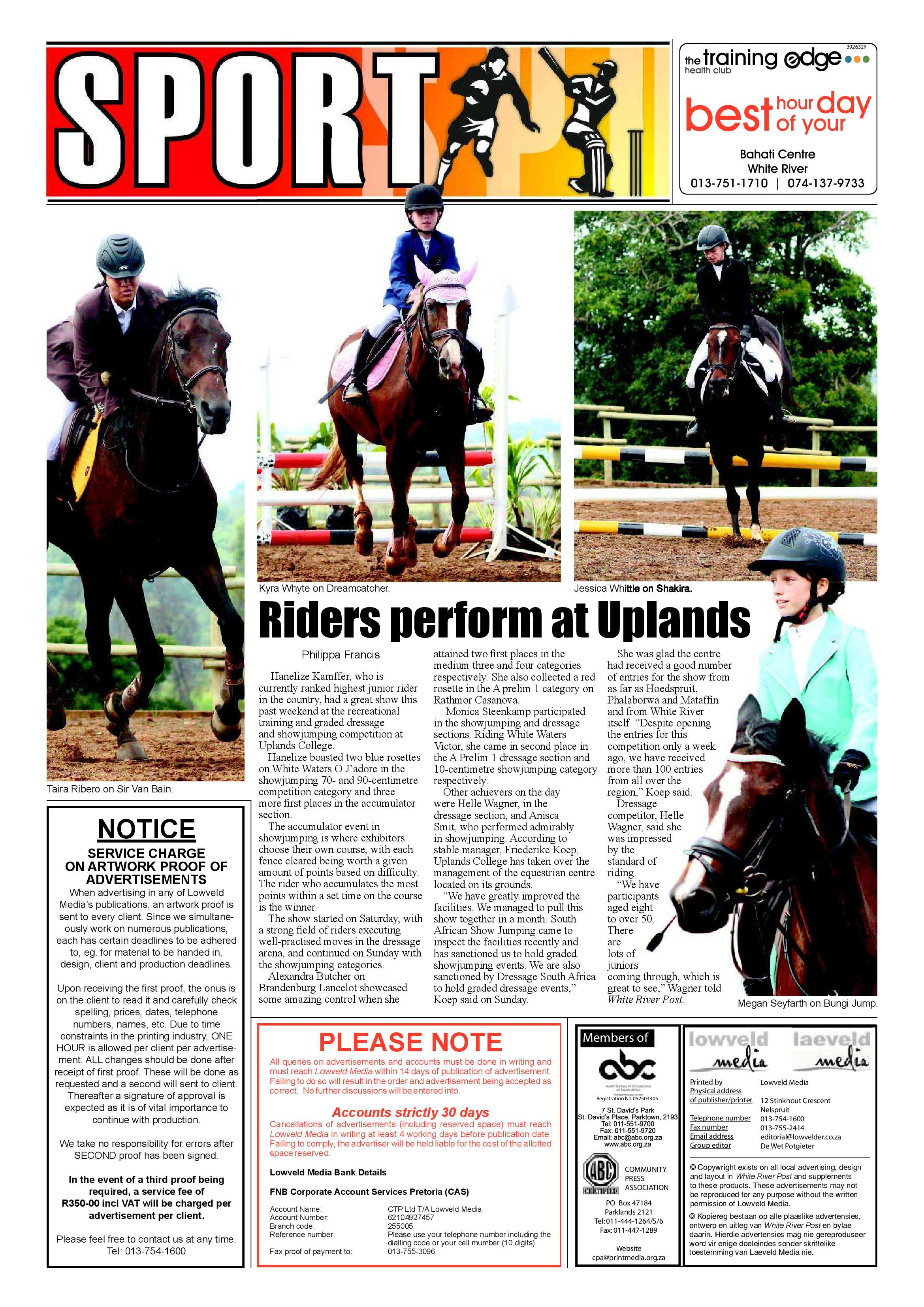Posts for march page 7 - White River Post 9 March 2017 Epapers Page